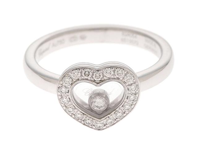 【送料無料】Chopard ショパール WG ダイヤモンド ハッピーダイヤモンドリング 50号 【430】【中古】【大黒屋】