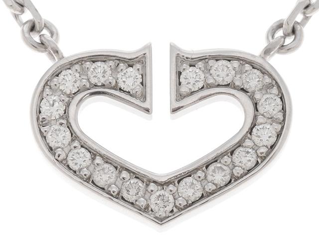 【送料無料】Cartier カルティエ 貴金属・宝石 Cハート ネックレス ネックレス WG D 5.9g【471】【中古】【大黒屋】