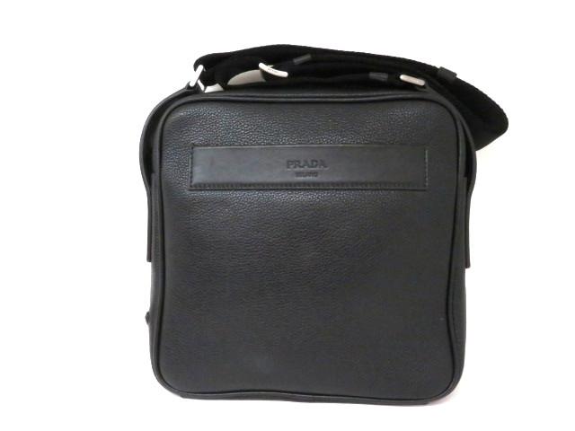 【送料無料】PRADA プラダ バッグ ワンショルダーバッグ 型押し ブラック 2VH012【413】【中古】【大黒屋】