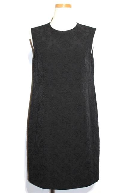 FOXEY フォクシー ノースリーブワンピース ドレス レディース38 ブラック ポリエステル【200】【中古】【大黒屋】