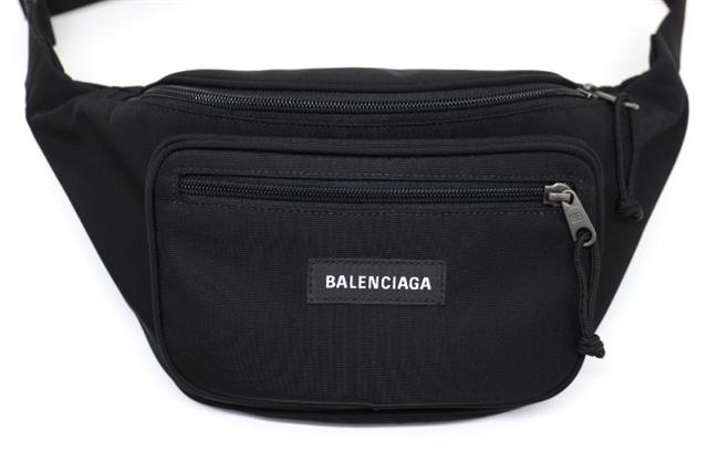 【送料無料】BALENCIAGA バレンシアガ バッグ エクスプローラー ベルトバッグ ウエストバッグ ボディバッグ ナイロン ブラック 【200】【中古】【大黒屋】