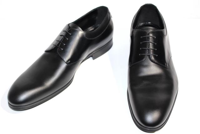 【送料無料】LOUIS VUITTON ルイヴィトン 革靴 ビジネスシューズ プレーントゥ メンズ8ハーフ  ブラック レザー 2018年【432】【中古】【大黒屋】