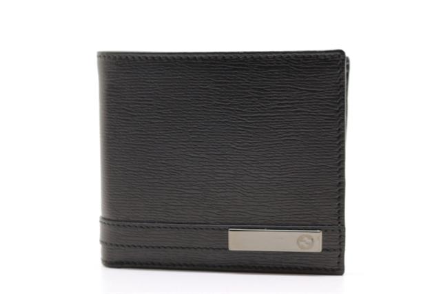 GUCCI グッチ サイフ・小物 二つ折財布 財布 レザー ブラック 365481 【200】【中古】【大黒屋】