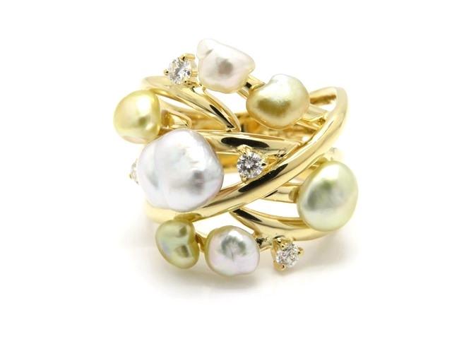 【送料無料】JEWELRY ノーブランドジュエリー リング 指輪 K18 イエローゴールド ダイヤモンド 13号 【474】【中古】【大黒屋】