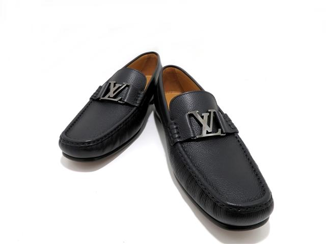 【送料無料】LOUIS VUITTON ルイヴィトン 革靴 8ハーフ ブラック レザー 【437】【中古】【大黒屋】