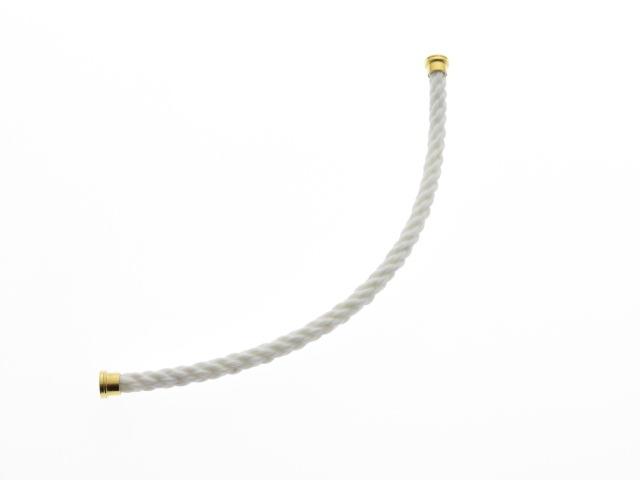 FRED フレッド フォース10 LMサイズ ケーブル 替えブレスレット 14号 GP ホワイト 【430】【中古】【大黒屋】