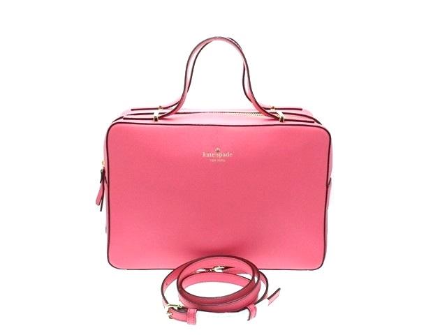 kate spade ケイトスペード ハンドバッグ  2wayハンドバッグ ピンク PVC【474】【中古】【大黒屋】