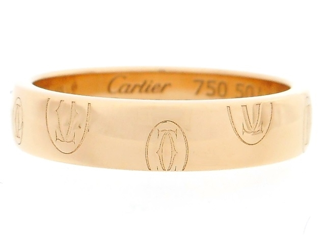 Cartier カルティエ 貴金属・宝石 ハッピーバースデイ リング 指輪 ロゴ カルティエ PG ピンクゴールド 4.5g 50号 日本サイズ約10号 【200】【中古】【大黒屋】
