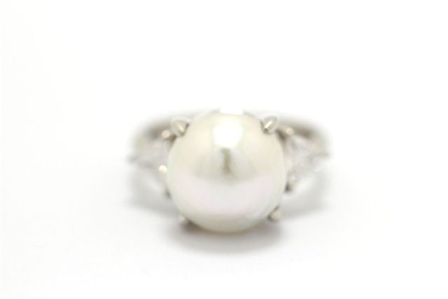 【送料無料】JEWELRY ノンブランドジュエリー リング 指輪 PT900 パール 真珠 0.470ct 8号 【460】【中古】【大黒屋】