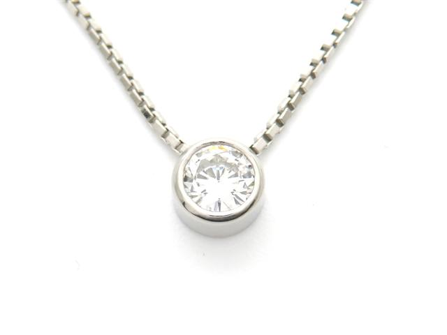 【送料無料】ノンブランド ネックレス Pt850 ダイヤモンド 0.36ct 【437】【中古】【大黒屋】