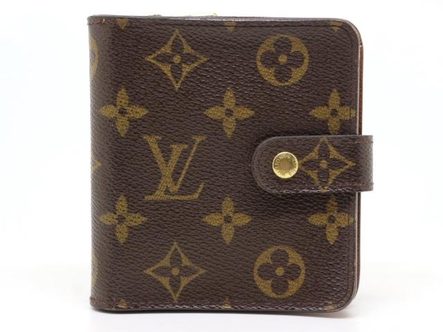LOUIS VUITTON ルイヴィトン 財布 コンパクト・ジップ モノグラム M61667 【431】【中古】【大黒屋】