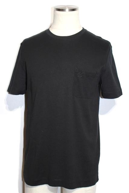 LOUIS VUITTON ルイヴィトン クルーネックTシャツ メンズS ブラック コットン 2018年【432】【中古】【大黒屋】