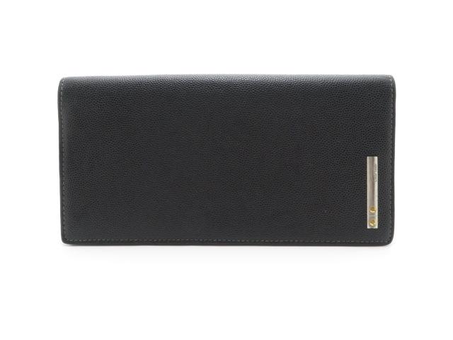 Cartier(カルティエ) 二つ折長財布 型押し 黒【430】【中古】【大黒屋】