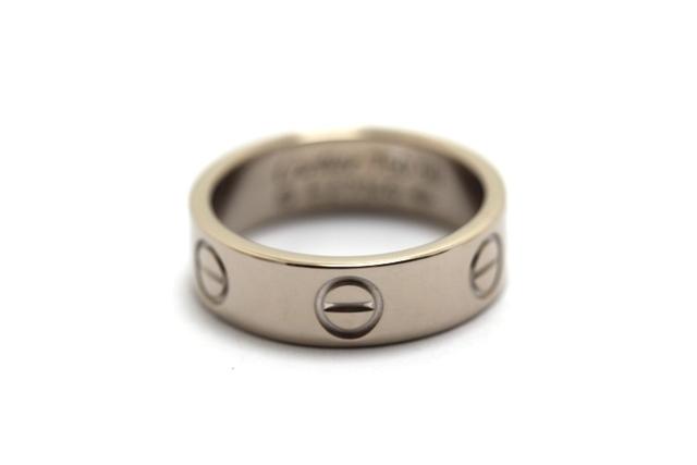Cartier カルティエ ラブリング リング 指輪 WG 50号 【460】【中古】【大黒屋】