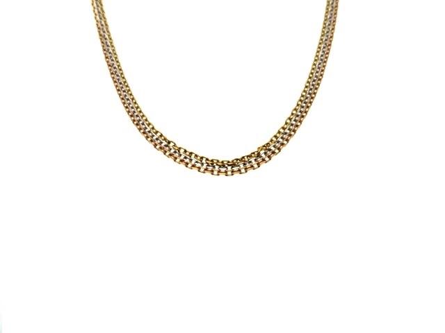【送料無料】Cartier カルティエ ネックレス トリニティネックレス 3カラー 12.8g【430】【中古】【大黒屋】