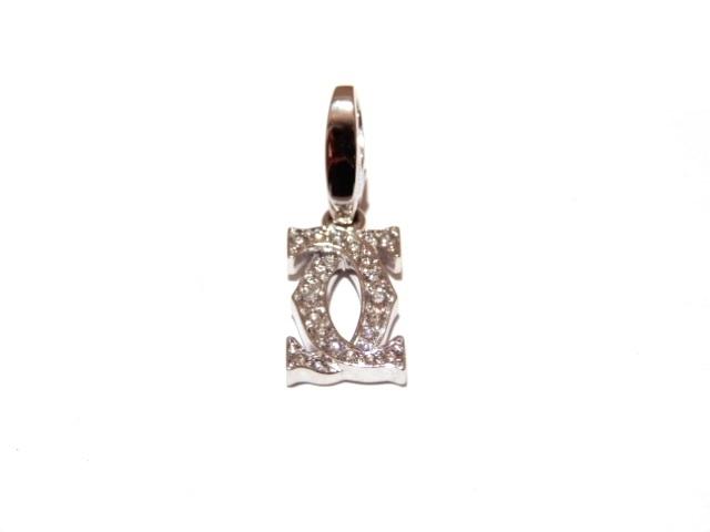 【送料無料】Cartier カルティエ 貴金属 宝石 チャーム 2Cチャーム WG D 2.4g 【432】【中古】【大黒屋】