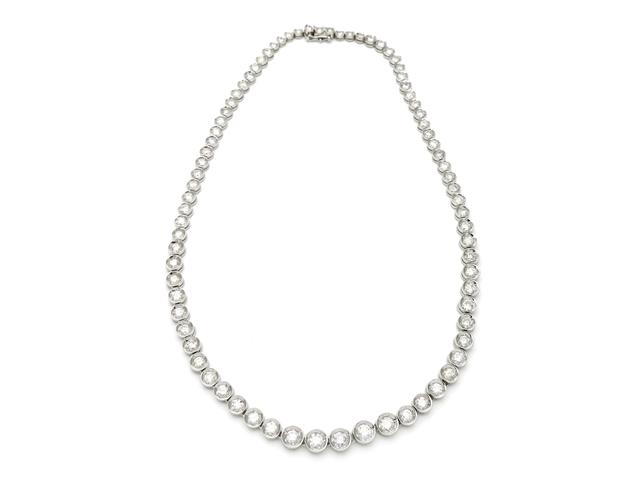 【送料無料】ノンブランド ネックレス Pt900 ダイヤモンド10.01ct 【437】【中古】【大黒屋】