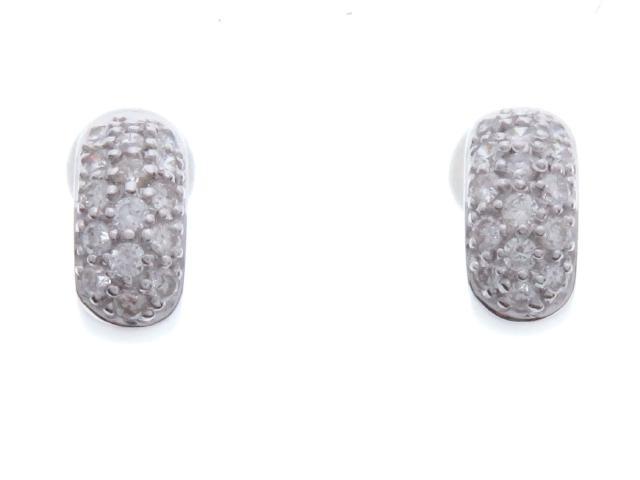 JEWELRY ノンブランドジュエリー ダイヤモンド ピアス K18WG D 2.1g【434】【中古】【大黒屋】