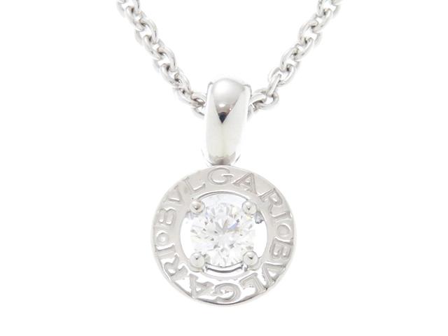 【送料無料】BVLGARI ブルガリ ブルガリブルガリ ホワイトゴールド ダイヤモンド1P ネックレス WG D 10.6g【430】【中古】【大黒屋】