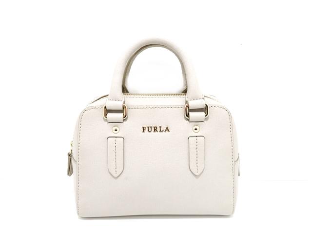 FURLA フルラ バッグ ショルダーバッグ グレー 型押し 【437】【中古】【大黒屋】