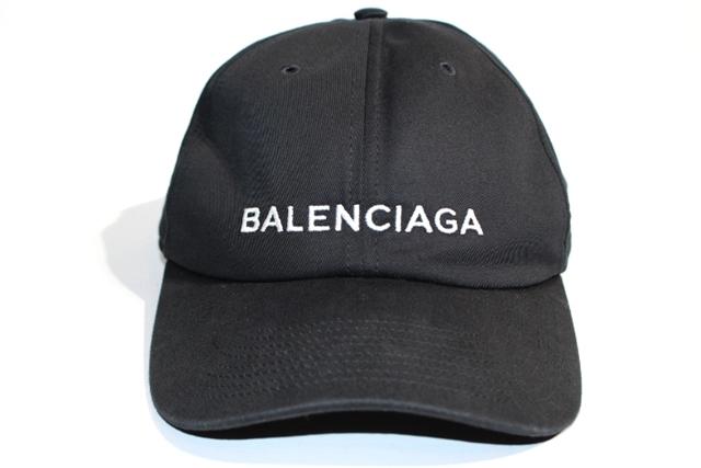 BALENCIAGA バレンシアガ ベースボールキャップ Lサイズ キャンバス ブラック バレンシアガロゴ ロゴキャップ 刺繍【200】【中古】【大黒屋】