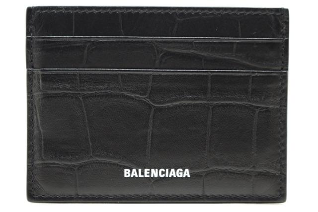 BALENCIAGA バレンシアガ カードホルダー 579311 ブラック レザー 【460】【中古】【大黒屋】