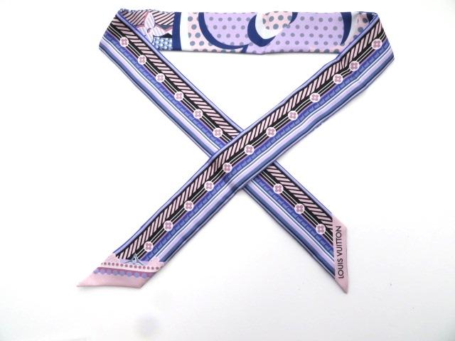 LOUIS VUITTON  ルイヴィトン 衣料品  バンドー スカーフ  バンドーポップ BB  ブルー  シルク M73866 【430】【中古】【大黒屋】