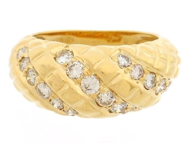 JEWELRY 貴金属・宝石 リング 指輪 K18 イエローゴールド ダイヤ 0.70ct 6.2g 12号 【200】【中古】【大黒屋】