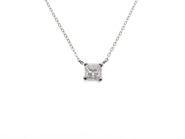 JEWELRY ノンブランドジュエリー PT850 PT900 ダイヤモンド ネックレス 【431】【中古】【大黒屋】