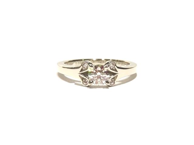 [送料無料]Cartier リング バレリーナリング プラチナ950 ダイヤモンド0.33ct #47(日本サイズ約7号)【204】【中古】【大黒屋】