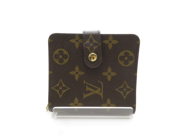 【送料無料】LOUIS VUITTON ルイ・ヴィトン M61667 コンパクト・ジップ 財布 モノグラム  【434】【中古】【大黒屋】