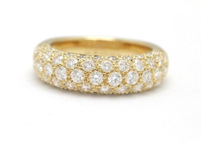 【送料無料】Cartier カルティエ 貴金属・宝石 リング ミミスターリング 750YG(イエローゴールド) ダイヤモンド 5.8g #48(日本サイズ8号)【473】【中古】【大黒屋】