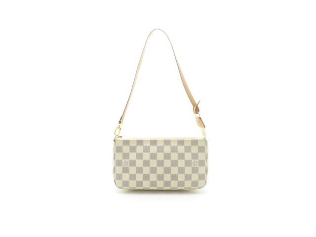 LOUIS VUITTON ルイヴィトン バッグ ポシェット・アクセソワール ポーチ(取っ手あり)ダミエ・アズール N41207【430】【中古】【大黒屋】