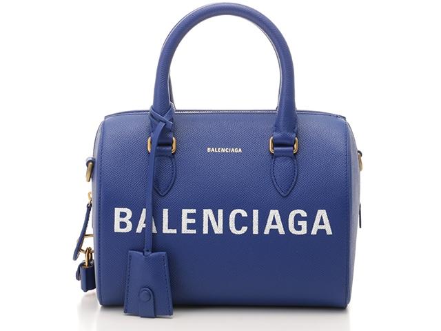 【送料無料】BALENCIAGA バレンシアガ ショルダーバッグ ヴィル ボーリングバッグ ブルー カーフ 518872【204】【中古】【大黒屋】