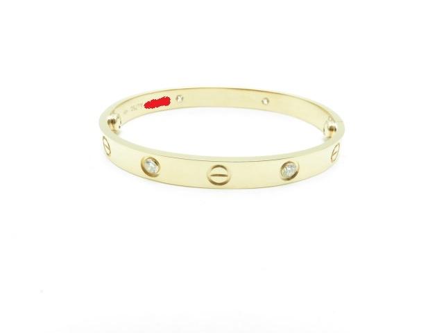【送料無料】Cartier ラブブレス ハーフダイヤ ピンクゴールド 26.8g16【431】【中古】【大黒屋】