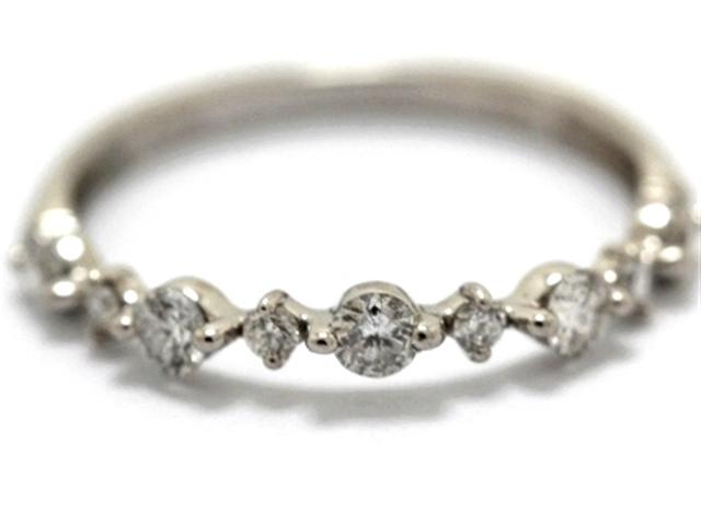 JEWELRY ノンブランドジュエリー デザインリング 指輪 PT900 ダイヤモンド 0.30ct 7号 【460】【中古】【大黒屋】