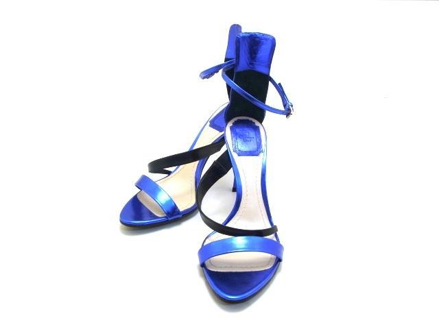 Dior ディオール サンダル カーフ ブルー 37ハーフ 【432】【中古】【大黒屋】