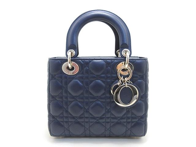 Dior ディオール ショルダーバッグ MY ABCDIOR バッグ ラムスキン ネイビー 【432】【中古】【大黒屋】