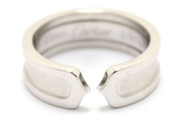 Cartier カルティエ C2 リング 指輪 WG 53号 【460】【中古】【大黒屋】