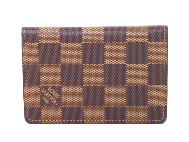 LOUIS VUITTON パスケース ポケット・オーガナイザー ダミエ N63145【204】【中古】【大黒屋】