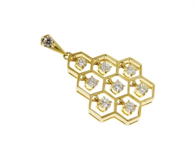 【送料無料】JEWELRY ノンブランド トップ イエローゴールド ダイヤモンド K18 D1.04 4.8g【430】【中古】【大黒屋】