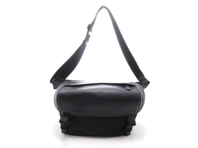 COACH ボディバッグ ナイロン×カーフ 黒【430】【中古】【大黒屋】