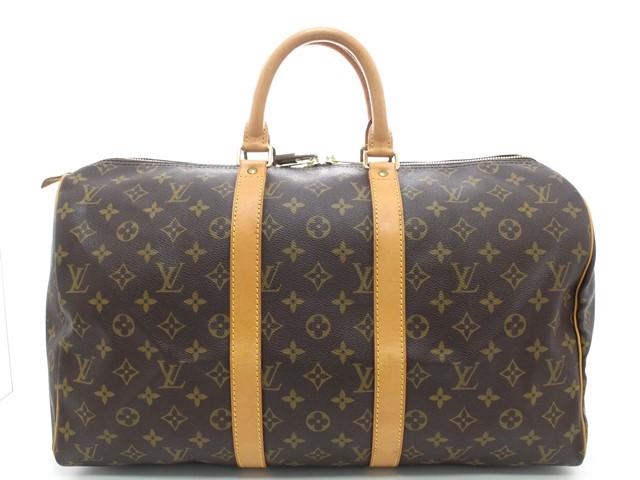 LOUIS VUITTON ルイヴィトン キーポル45 ボストンバッグ 旅行鞄 モノグラム M41428 【474】【中古】【大黒屋】