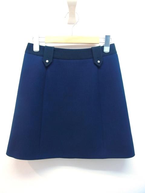 PRADA  プラダ  スカート 38 ネイビー ウール 【432】【中古】【大黒屋】