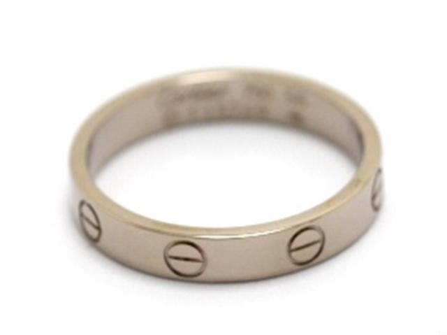 【送料無料】Cartier カルティエ ミニラブリング 指輪 WG 56号 【460】【中古】【大黒屋】