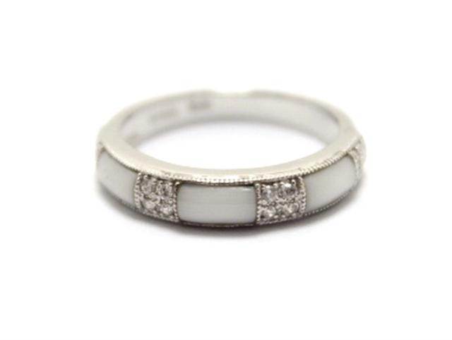 【送料無料】JEWELRY ノンブランドジュエリー リング 指輪 K18WG ダイヤモンド 0.10ct 12号 【460】【中古】【大黒屋】
