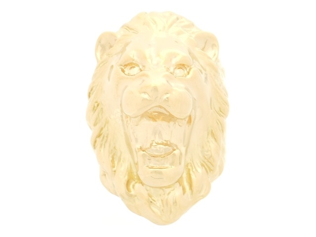 【送料無料】JEWELRY 貴金属・宝石 リング メンズリング ライオン K18 ゴールド 27.8g 19号 【200】【中古】【大黒屋】