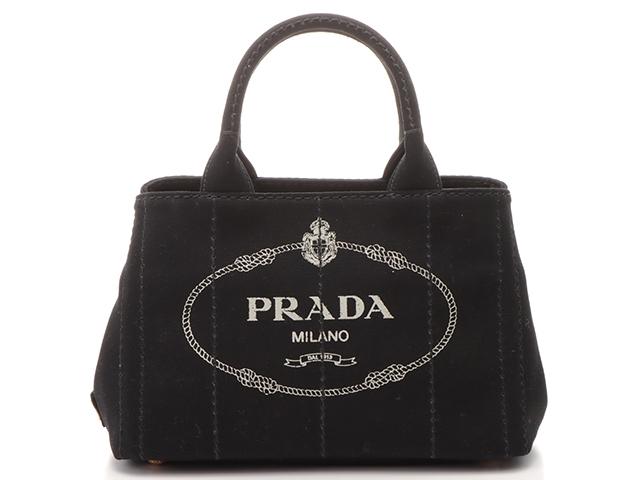 PRADA プラダ バッグ カナパ ハンドバッグ 2WAYバッグ ショルダーバッグ ブラック キャンバス 1BG439 【200】【中古】【大黒屋】