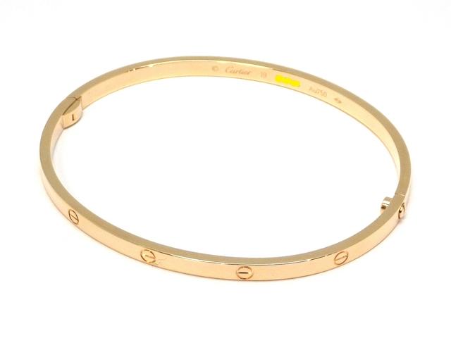 Cartier カルティエ 貴金属・宝石 ラブブレスレット SM B6047517 YG イエローゴールド 約21.3g 19号 【431】【中古】【大黒屋】