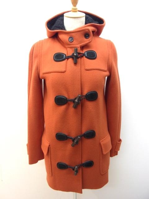 グッチ GUCCI 【432】【中古】【大黒屋】 ウール ニットコート オレンジ レディースXS